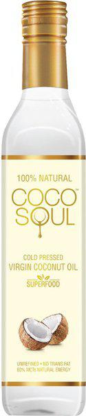 Coco Soul Cold Pressed Natural Virgin VCNO Coconut Oil Plastic Bottle(500 ml)