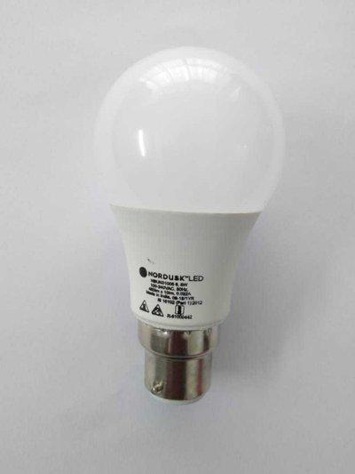 nordusk 5 W Standard B22 LED Bulb(White, Pack of 6)