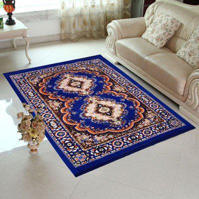 Aaris Blue Chenille Carpet(55 X 80)