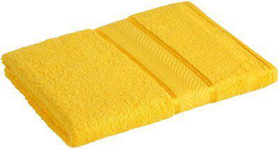 Divine Overseas Cotton 450 GSM Bath Towel(Yellow)