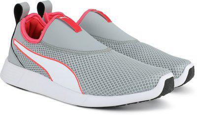 Puma ST Trainer Slip on NU IDP Quarry-Puma Wh Running Shoes For Men(Grey)