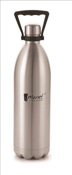 Monet Premium Quality Cari Bottle Keeps Bevarages Hot or cold For Long Hours 2200 ml Bottle(Pack of 1, Silver)