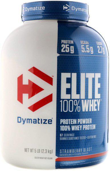 Dymatize Elite Whey 5 Lbs Whey Protein(2.3 kg, strawberry)
