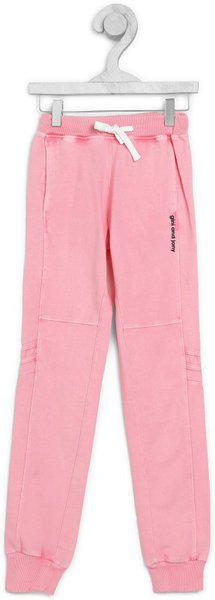 Gini & Jony Track Pant For Girls(Pink, Pack of 1)