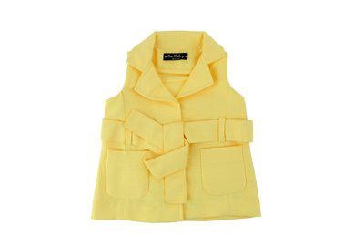 One Friday Sleeveless Solid Baby Girls Jacket