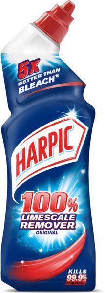 Harpic 100 Limescale Remover Original Gel Toilet Cleaner Regular(750 ml)