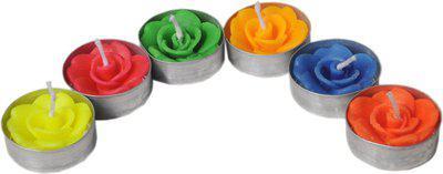 K kudos Enterprise ROSESHAPECANDLES12 Candle(Multicolor, Pack of 12)