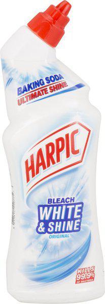 Harpic Bleach White And Shine Original Gel Toilet Cleaner Regular(750 ml)