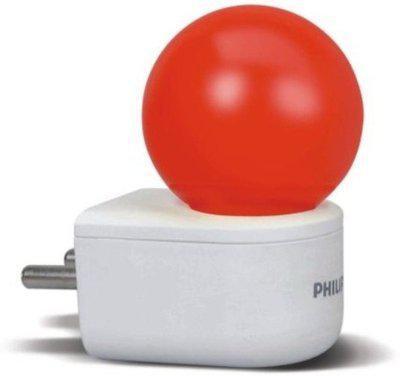 Philips 0.5 W Standard Plug & Play Night Bulb(Red)