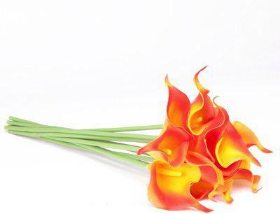Sehaz Artworks Lily-Orenge Orange Lily Artificial Flower(12 inch, Pack of 10)