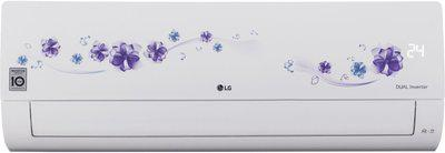 LG 1 Ton 5 Star Split Dual Inverter AC  - Floral White(KS-Q12FNZD, Copper Condenser)