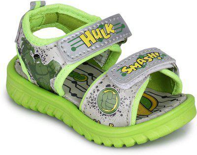 Marvel Boys Velcro Sports Sandals(Green)