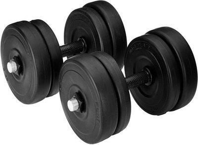 Monika Sports 4 pvc plates of 2 kg each + 2 dumbell rods Adjustable Dumbbell(8 kg)