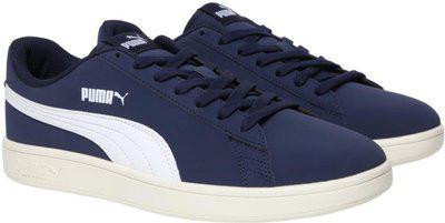 Puma Smash v2 Buck Sneakers For Men(Navy)
