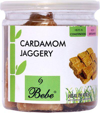 BeBe Cardamom Jaggery 250 g X 2 Jars Jaggery(500 g, Pack of 2)