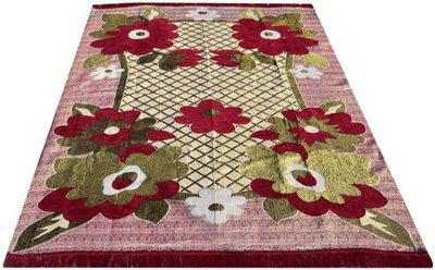 royal home Multicolor Cotton, Chenille Carpet(170 X 140)