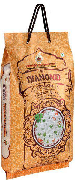 SHRI LAL MAHAL DIAMOND BASMATI RICE 5 KG Basmati Rice (Medium Grain, Steam)(5000 g)