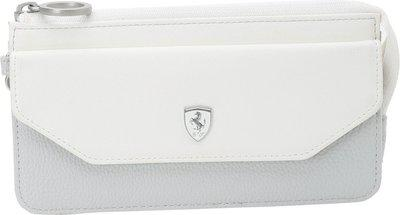 PUMA Women Casual White Grey Genuine Leather Wallet 2 Card Slots