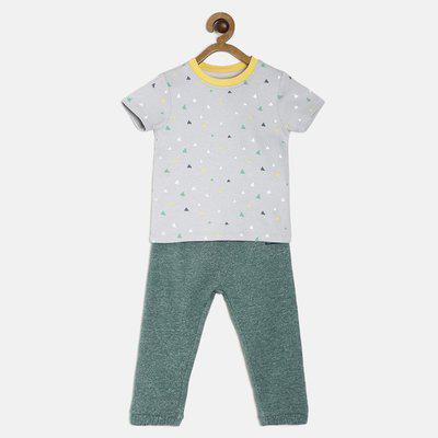 Mini Klub Boys Casual Top Track Pants(Multicolor)