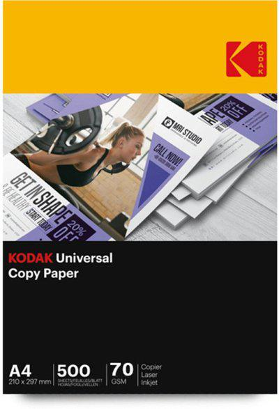 Kodak Universal Copier Printing Paper 70 gsm 500 Sheet Unruled A4 Copy Paper(Set of 1, White)