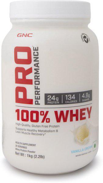 GNC Pro Performance 100% Whey Protein(1 kg, Vanilla Cream)