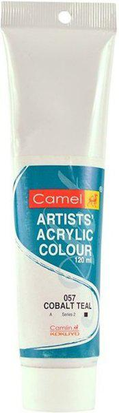 Camlin Kokuyo Artist Acrylic Colour Tubes 120ml Cobalt Teal 057(Set of 1, Green)