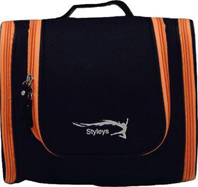 Styleys Modern Toiletry Bag For Men/Women Travel Organizer Polyester Toiletry Kit Travel Pouch (Black) Travel Toiletry Kit(Black)