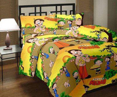 SUNJES Cartoon Single Dohar(Poly Cotton, Multicolor)
