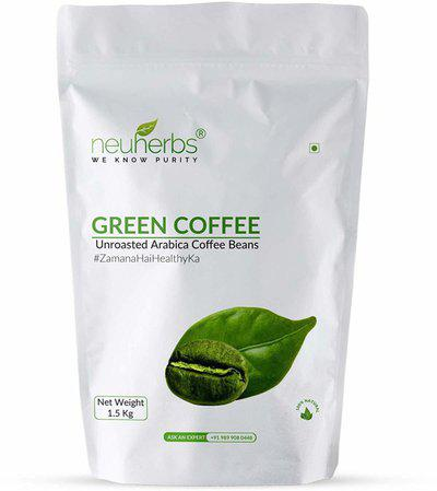 Neuherbs Green Coffee Beans for Weight Loss Instant Coffee(1.5 kg)