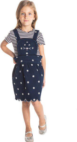 Cherry Crumble California Girls Midi/Knee Length Casual Dress(Blue, Sleeveless)