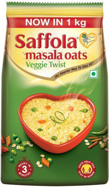 Saffola Veggie Twist Masala Oats(500 g, Pouch)