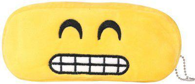 24x7eMall teeth emoji Art Canvas Pencil Box(Set of 1, Yellow)