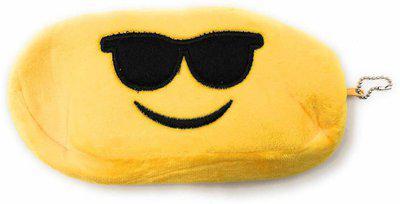 24x7eMall cool emoji emoji Art Canvas Pencil Box(Set of 1, Yellow)