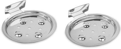 Prestige Rose Stainless Steel Soap Dish Holder(Pack of 2)(Silver)