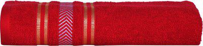 Divine Overseas Cotton 400 GSM Bath Towel(Red)
