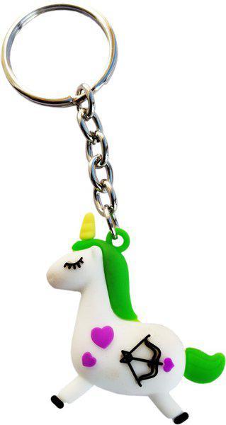 KTB Creations Unicorn Horse Keychain Green Unicorn Birthday Party Favors Supplies for Kids Girls Pony Toys Key Chain