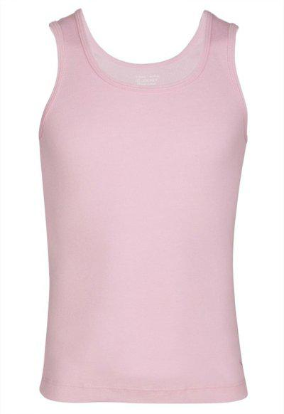 Jockey Girls Cotton Blend Tank Top(Pink, Pack of 1)