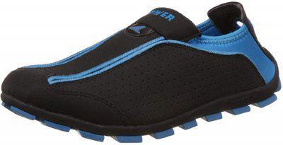 Power Women's Slip 12 Black And Blue Running Shoes - 5 Uk/india (38 Eu) (5396224)