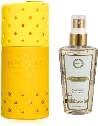 Armaf Magnum A11 Perfume Body Spray 250Ml + High Street Body Mist 100Ml(Set of 2)