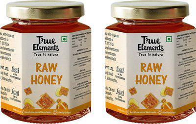 True Elements Raw Honey(1050 g, Pack of 3)