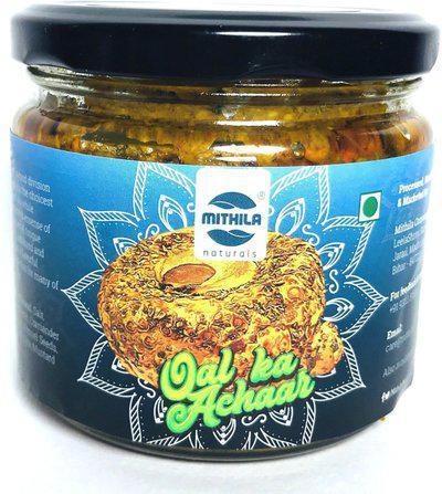 Mithila Naturals OAL Ka Achar ( SURAN/ JIMIKAND PICKLE ) - MMP-206-OP Mixed Pickle(300 g)