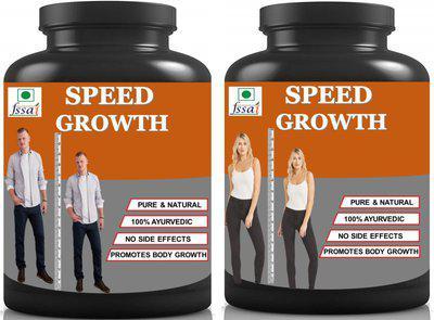 Hindustan Ayurveda Speed Growth Height Increase Powder (100g Chocolate) Pack Of 2) Weight Gainers/Mass Gainers(100 g, Chocolate)