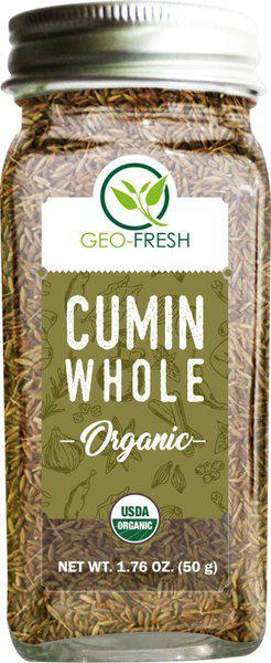 Geo-Fresh organic Cumin Whole - 50g (Pack Of 2)(2 x 50 g)