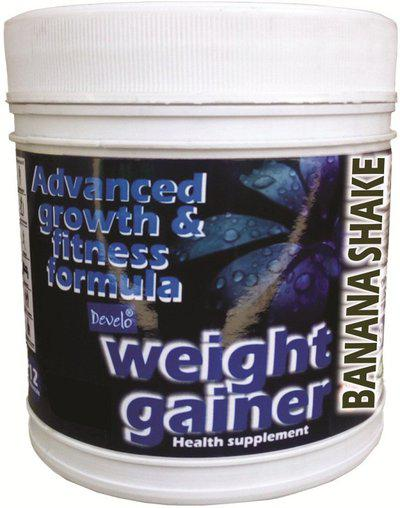 DEVELO MASS / WEIGHT GAINER WHEY / SOYA PROTEIN SUPPLEMENT FOR GYM WITH RAPID CARBS Weight Gainers/Mass Gainers(500 g, KESAR BADAM)