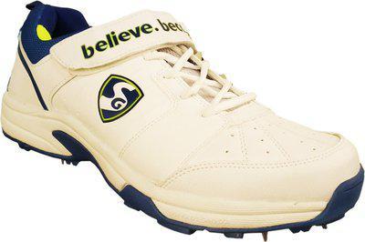 64e3828cb7f6 SG New Stroke 2.0 Full Metal Spikes Cricket Shoes White Lime Royal Blue  Cricket