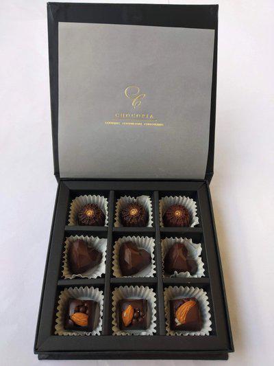 chocopia Belgian Dark Couverture Chocolates Buddy pack (9) Truffles(108 g)