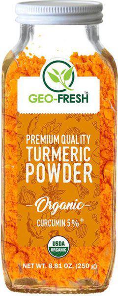 Geo-Fresh Organic Premium Quality Turmeric (5%) 250g - USDA Certified(250 g)