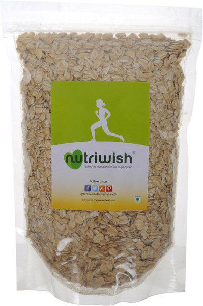 Nutriwish Premium Gluten-Free Rolled Oats(500 g, Vacuum Pack)