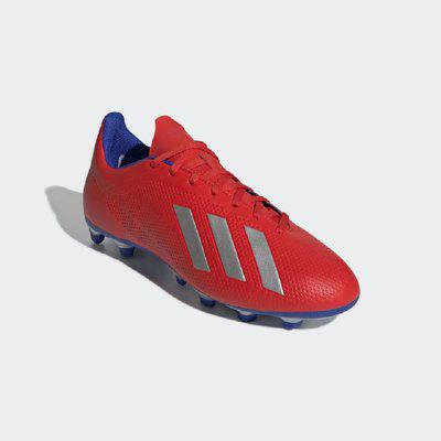 ADIDAS FOOTBALL X 18.4 FIRM GROUND BOOTS Football Shoes For Men(Red, Silver, Blue)
