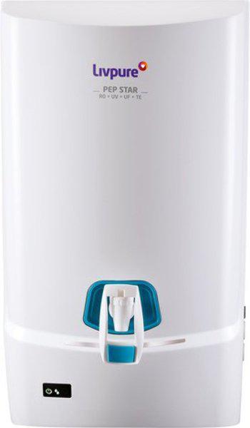 Livpure Pep Stars Ro Water Purifiers 7 L RO + UV + UF + TDS Water Purifier(White)